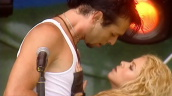 Shakira performs tango with male dancer, Party in the Park, Hyde Park; 7 July 2002
