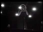 Marilyn Monroe performs for US troops at night, Korea; Feb 54